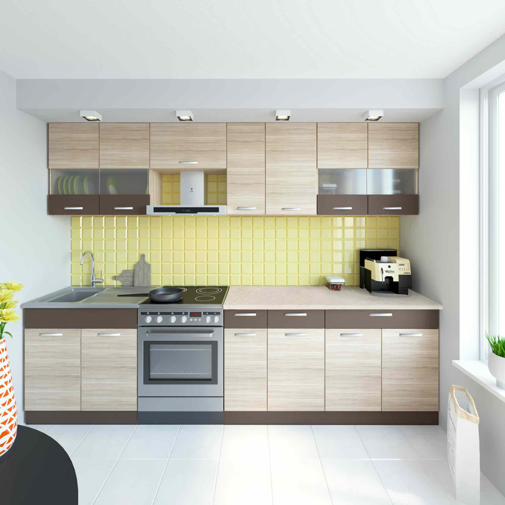 Küche ALINA 290 cm – Möbel DENA