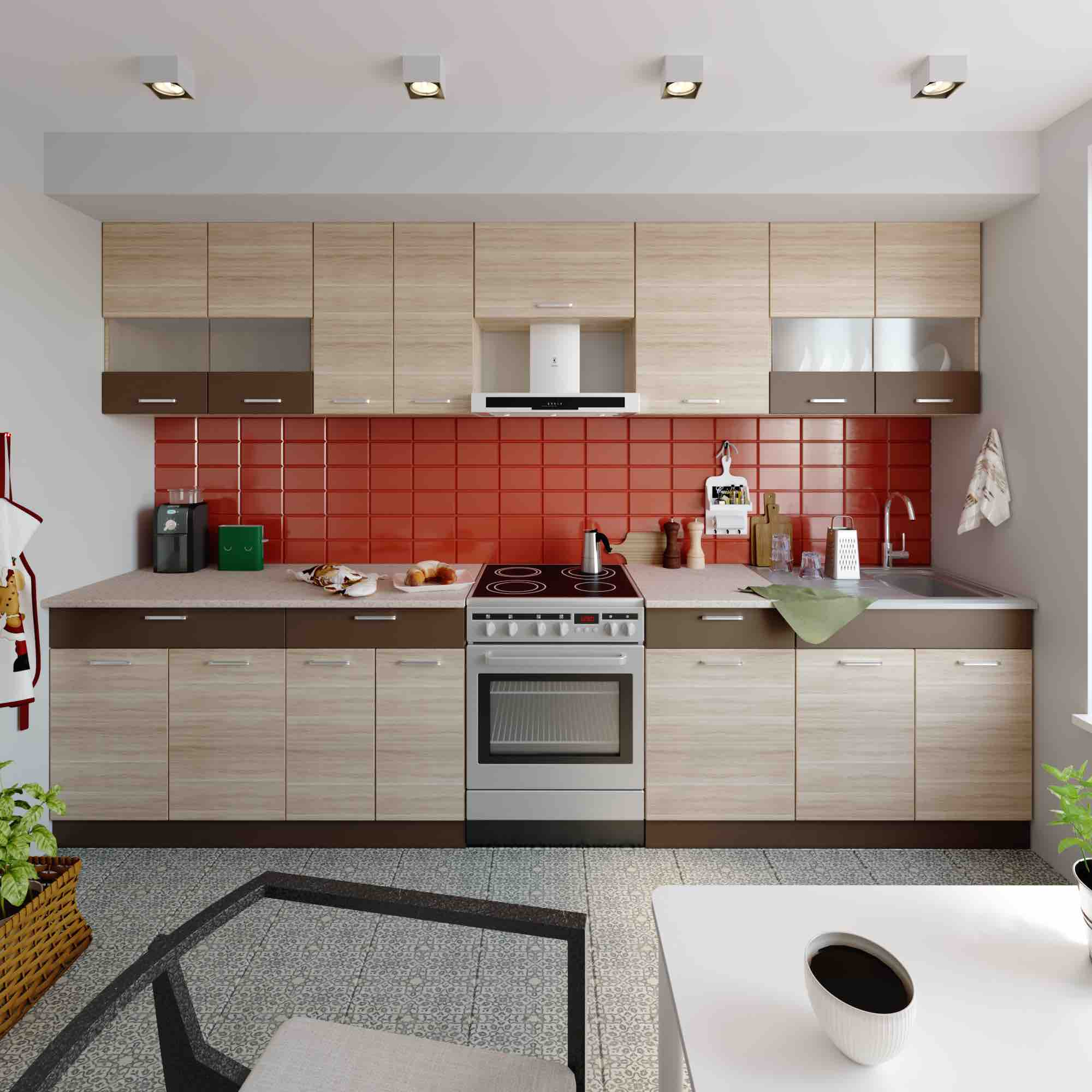 Küche ALINA 330 cm – Möbel DENA