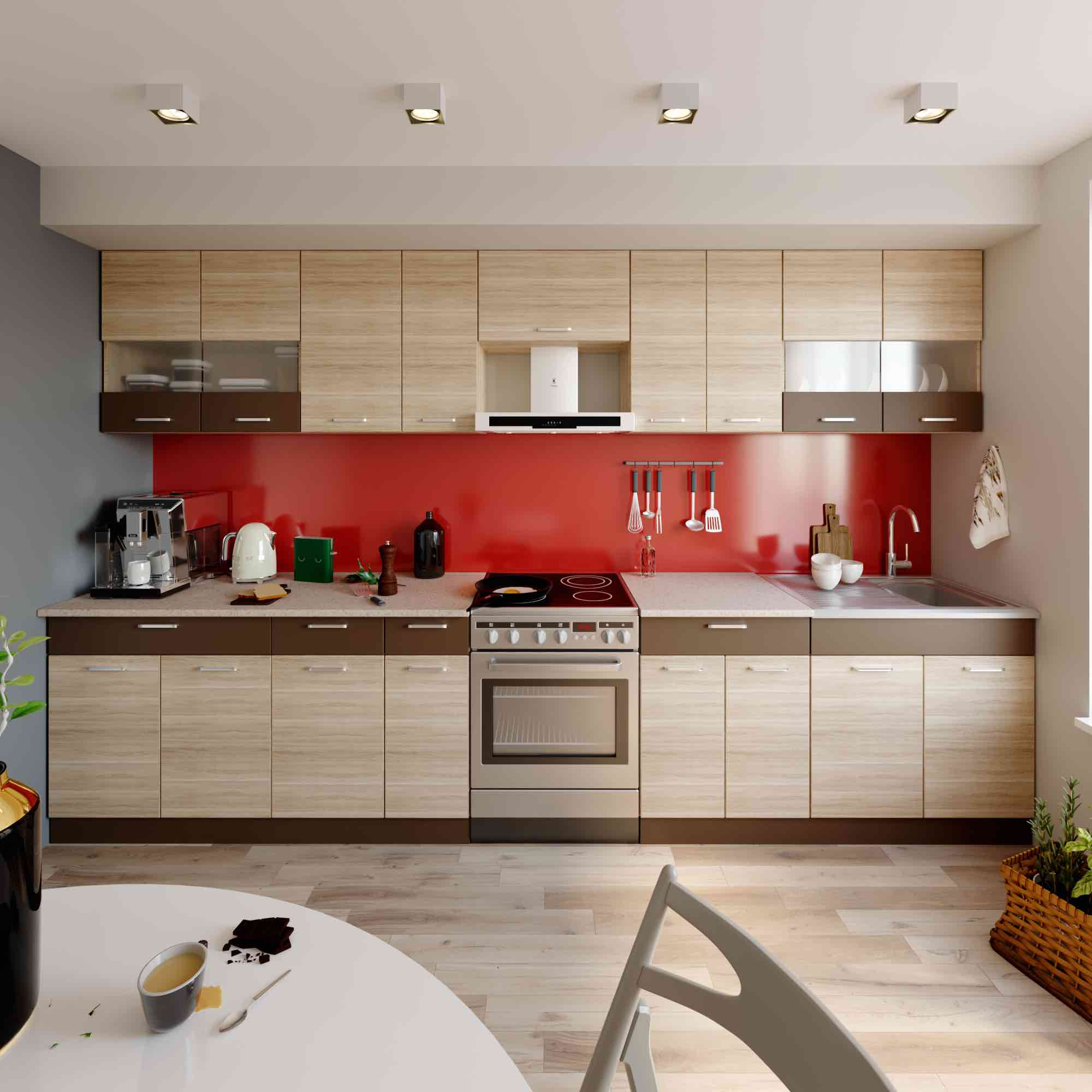 Küche ALINA 350 cm – Möbel DENA