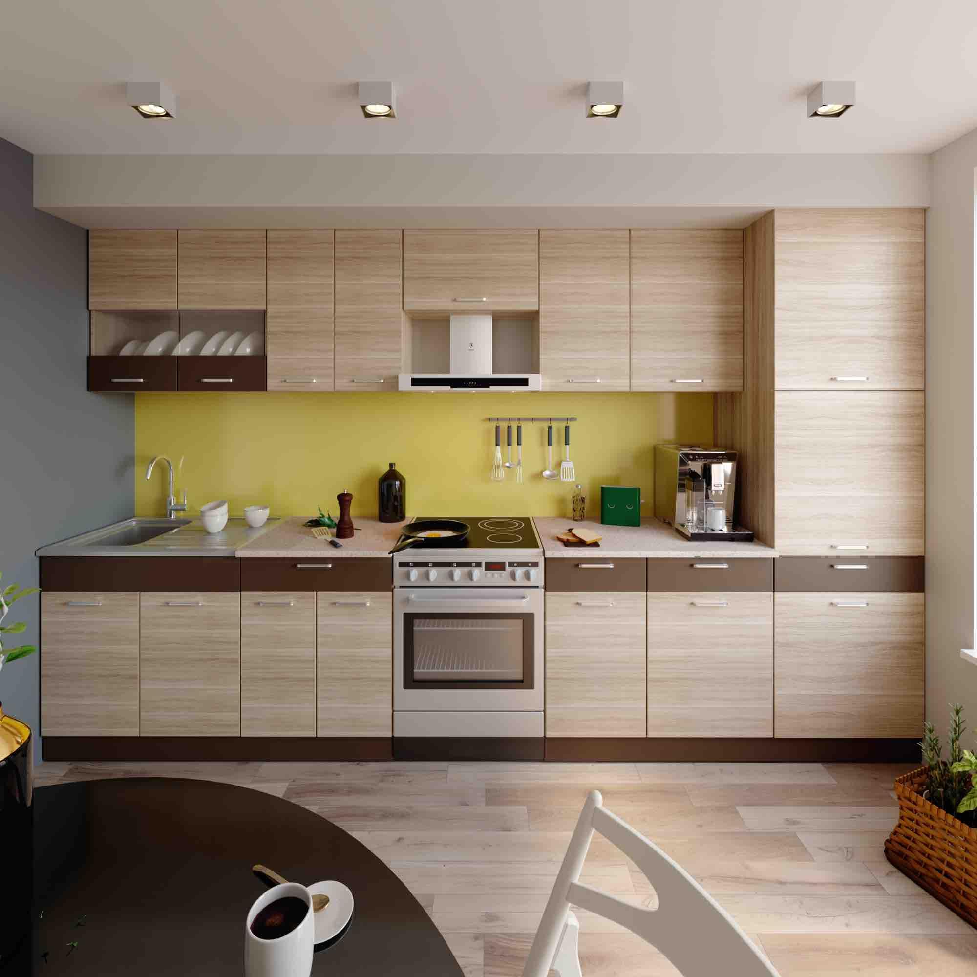 Küche ALINA H 350 cm – Möbel DENA