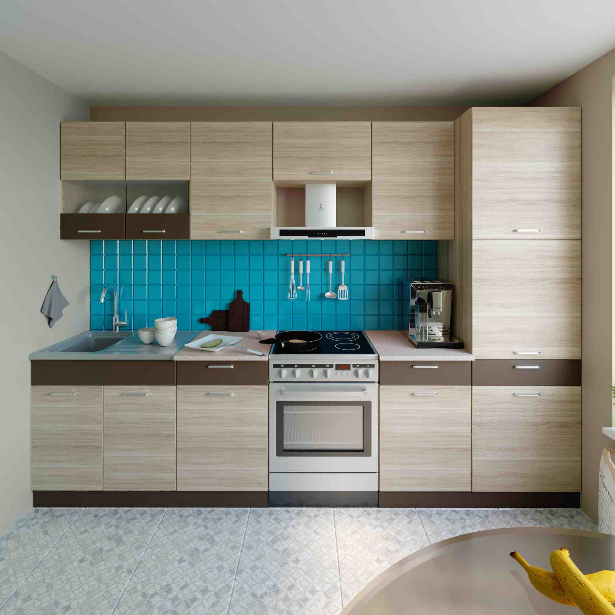 Küche 300 Cm   Kuche Alina H 300 Cm Mobel Dena