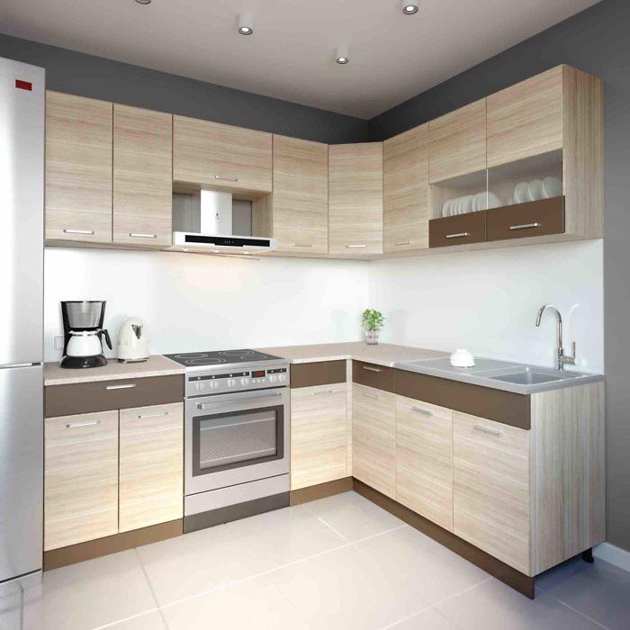 Küche L-Form ALINA 180×220 cm – Möbel DENA