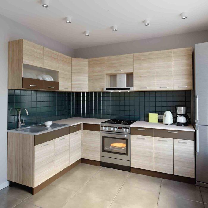 Küche L-Form ALINA 180×260 cm – Möbel DENA