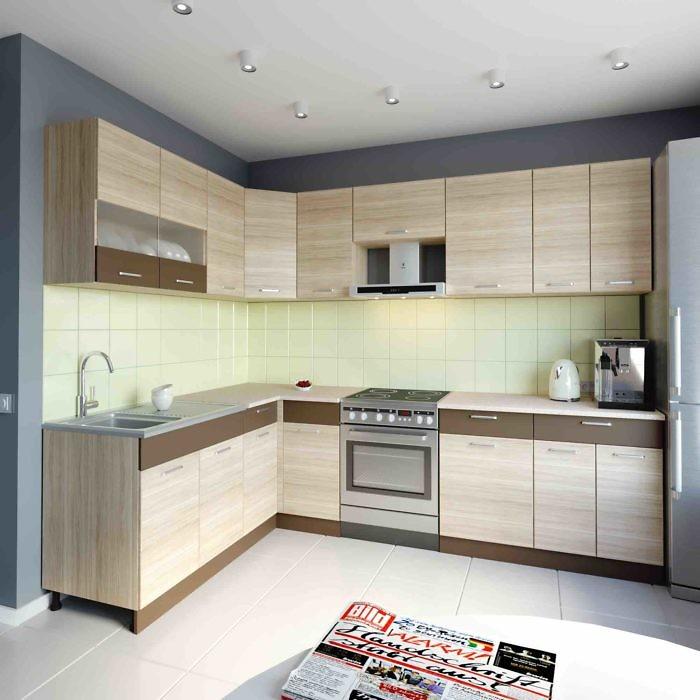 Küche L-Form ALINA 180×270 cm – Möbel DENA