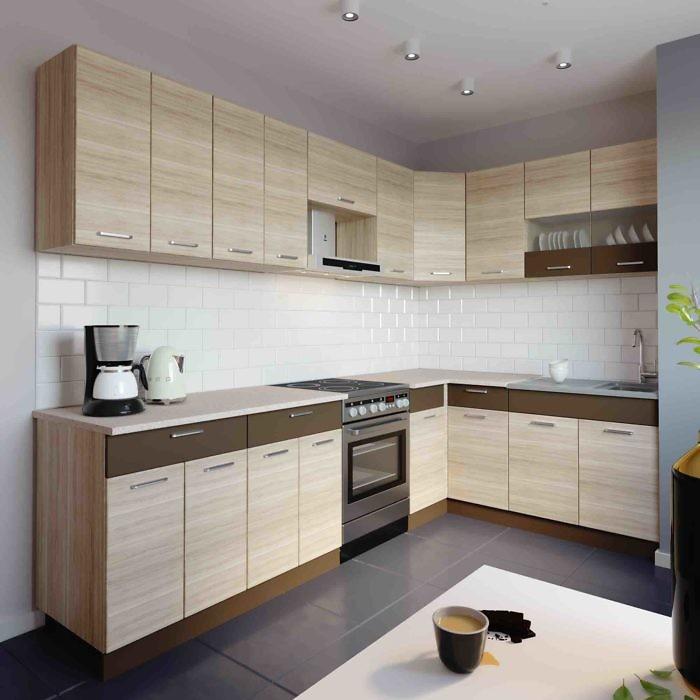 Küche L-Form ALINA 180×280 cm – Möbel DENA