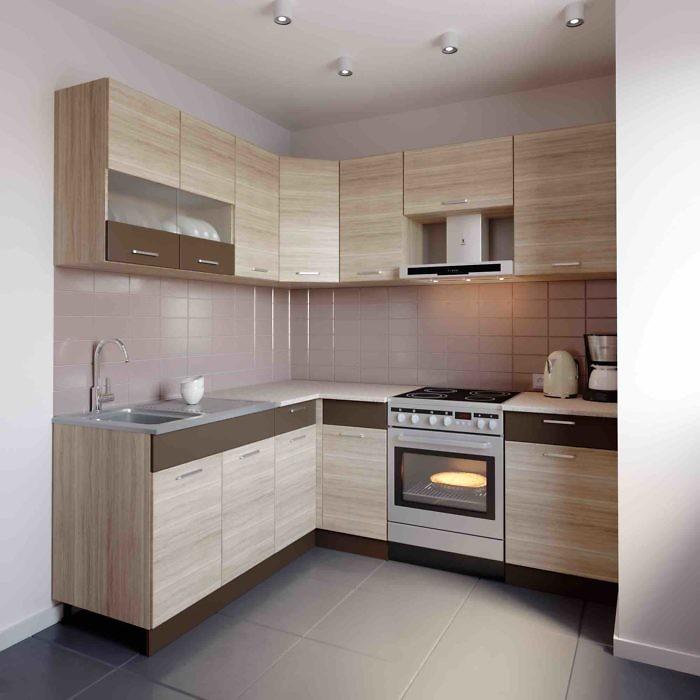 Küche L-Form ALINA 180×210 cm – Möbel DENA