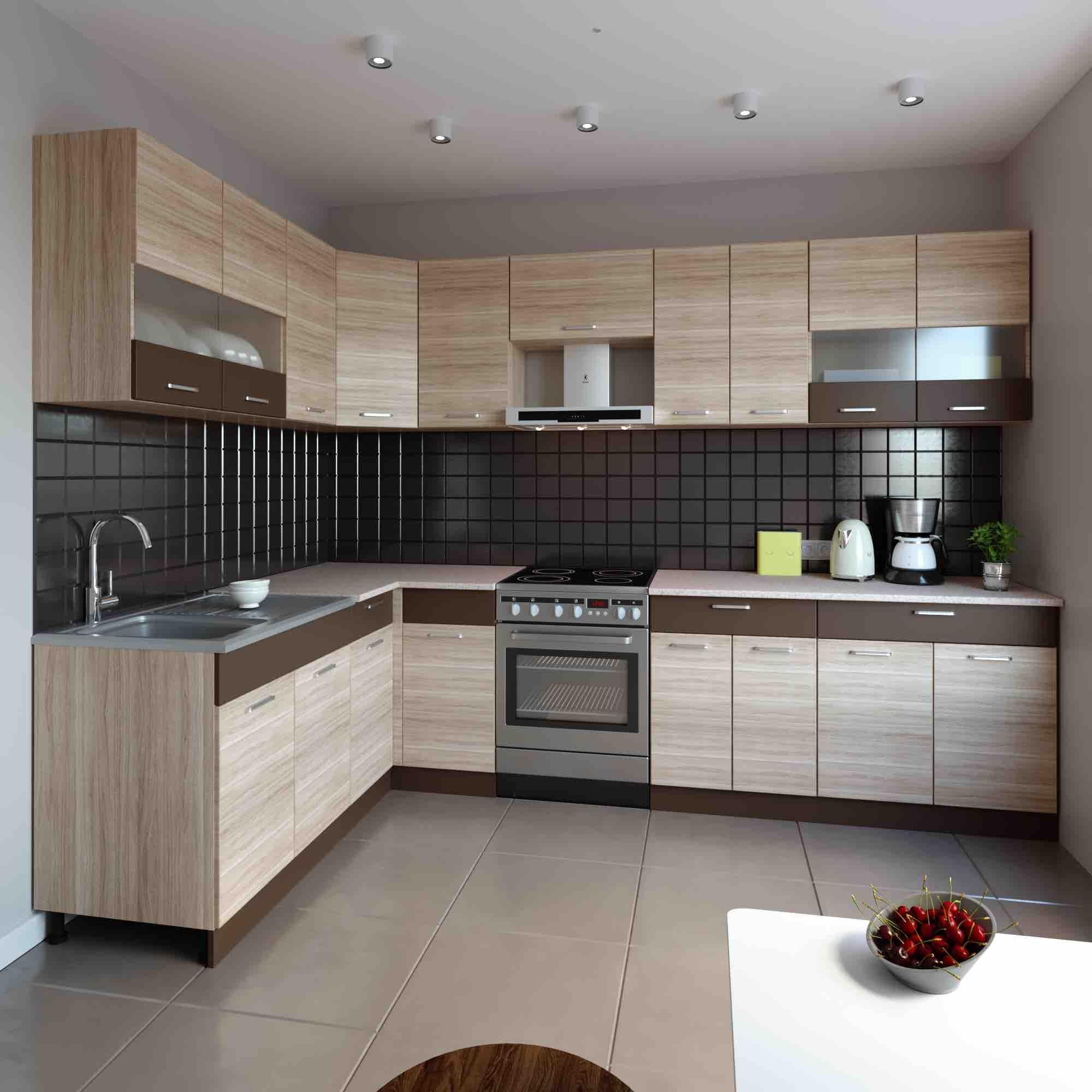 Küche L-Form ALINA 180×300 cm – Möbel DENA