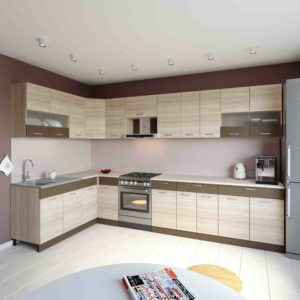 Küche L-Form ALINA 180×340 cm – Möbel DENA